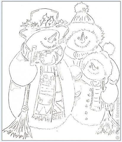 Семья снеговиков фото 5
