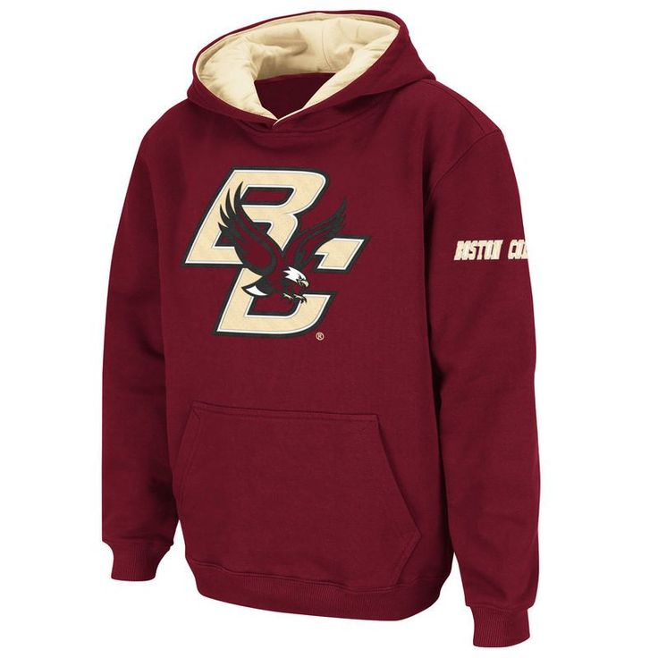 Boston College Eagles Stadium Athletic Youth Big Logo Pullover Hoodie - Maroon
