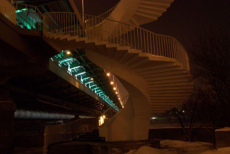 schody na most Gdański