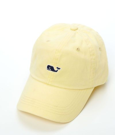 Vineyard Vines Signature Whale Logo Baseball Hat in lemonade.  Bought this one for our vacation this summer and I loooove the color.