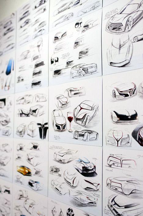 Industrial Design Senior Show — great sketches of car design process.