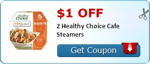 $1.00 off 2 Healthy Choice Cafe Steamers