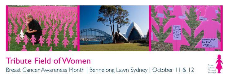 BCNA Tribute Field of Women Sydney October 11 & 12  http://www.bcna.org.au/bcna/event/bcna-tribute-field-women-sydney