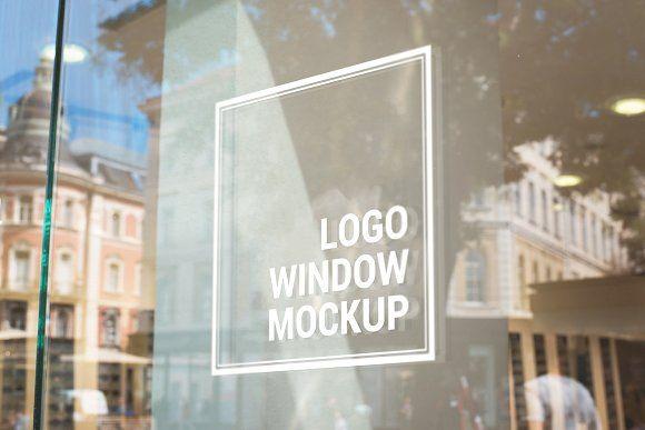 Logo Mockup On Store Glass Window Logo Mockup Sign Mockup Mockup