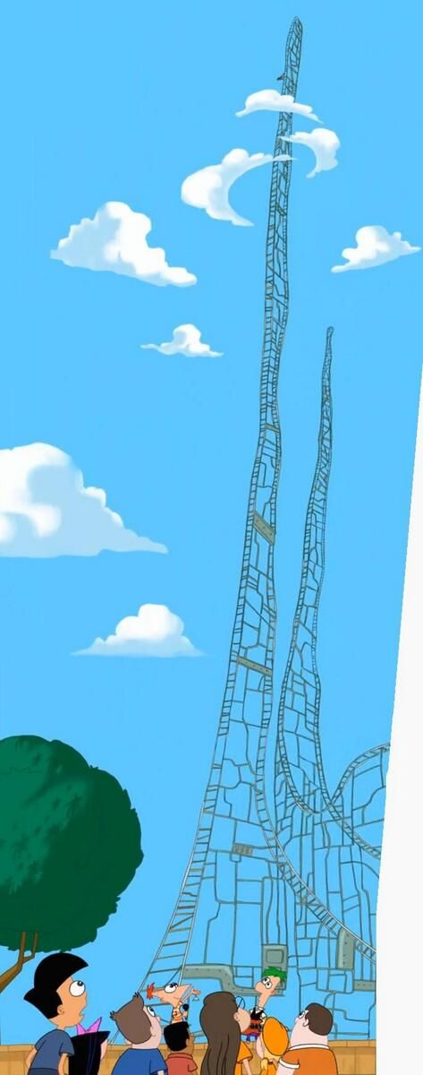 Phineas and Ferb Roller Coaster. They must be our siblings. Its the only explanation
