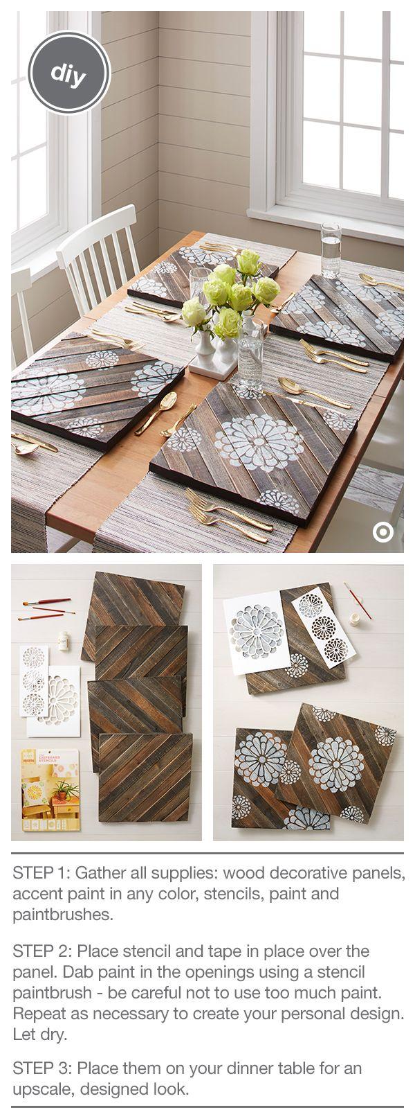 Platzdeckchen aus Holz