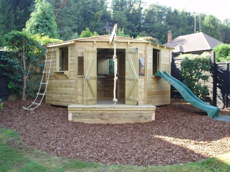 344 best backyard fun images on pinterest backyard for Outdoor clubhouse plans