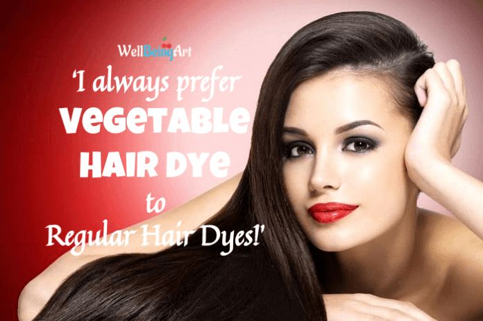 Vegetable hair dye