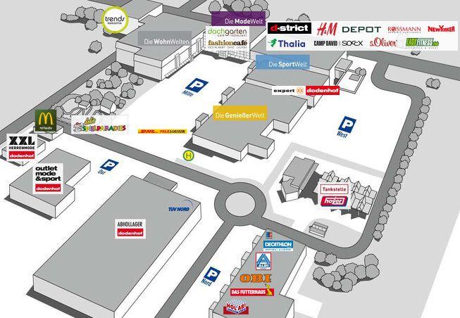 Dodenhof Lageplan Planer Lagen Tankstelle