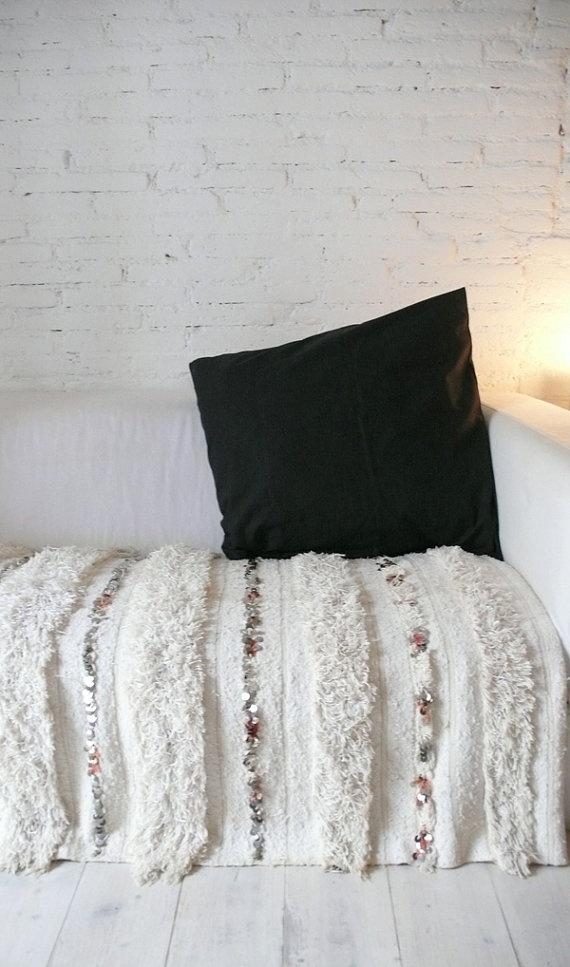 Handira  Vintage Moroccan Wedding Blanket por lacasadecoto en Etsy, €195,00