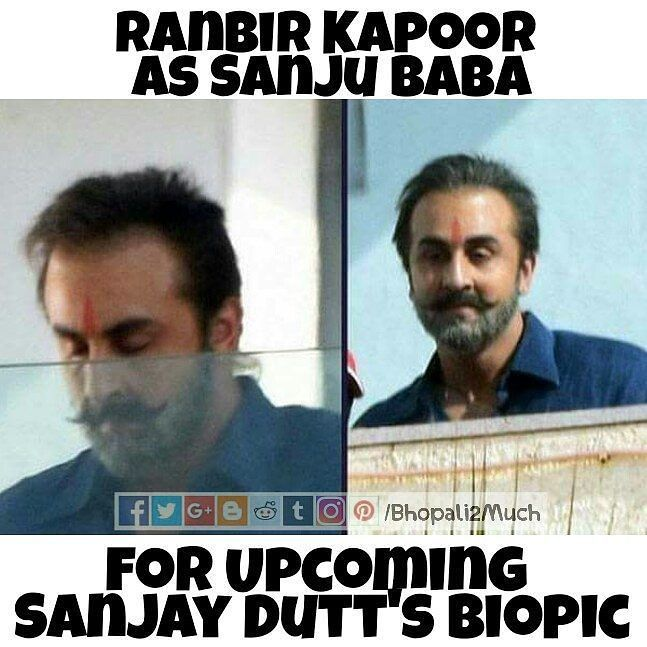 Ranbir kapoor prepared for the Biopic on Sanjay Dutt. How many likes for the dedication.. #dedication #ranbirkapoor #sanjaydutt #biopic #movie #bollywood #bhopali2much