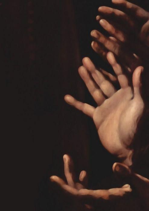 Caravaggio - Madonna del Rosario (detail)
