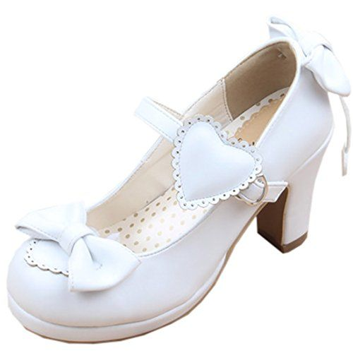 Partiss Women's Bowknot Heart High Heels Sweet Lolita Sho... https://www.amazon.com/dp/B01G70SU30/ref=cm_sw_r_pi_dp_x_quE9xbX6RH3BS