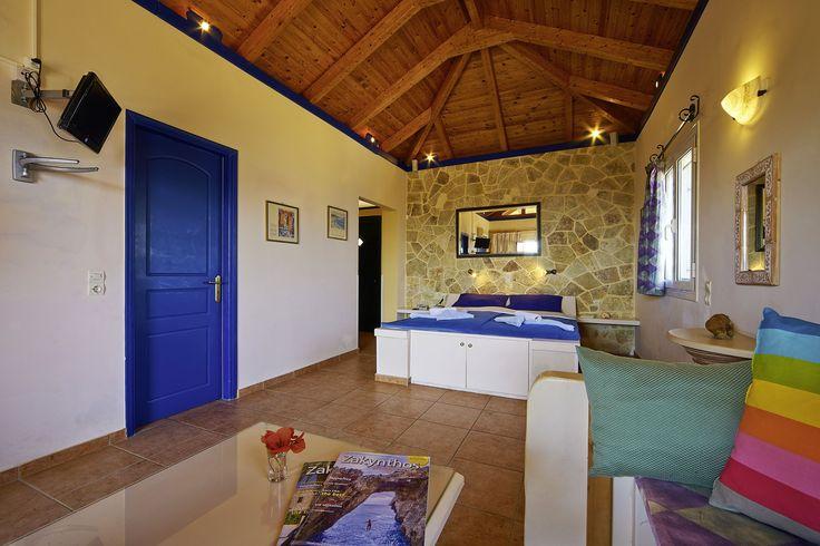 Villas Cavo Marathia - Turtle Island Sea View Studio - Type A - sleeping and living area