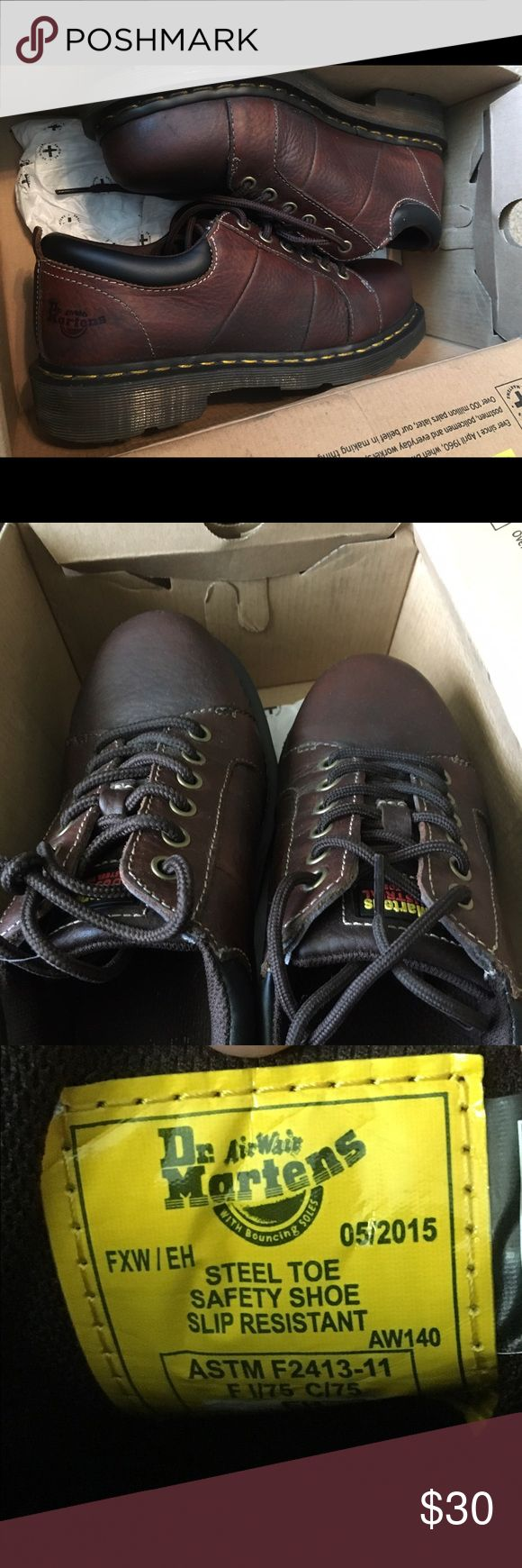 Dr. Marten steel toe woman's low cut boots Like New only worn a couple times. Size 7 Dr. Martens Shoes Combat & Moto Boots