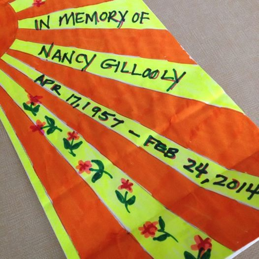 """Spent my lunch decorating a Relay luminaria bag for my mom. Bittersweet. When I bought it, it was an """"in honor of."""" I love you Mom! Miss you! April 2014."""