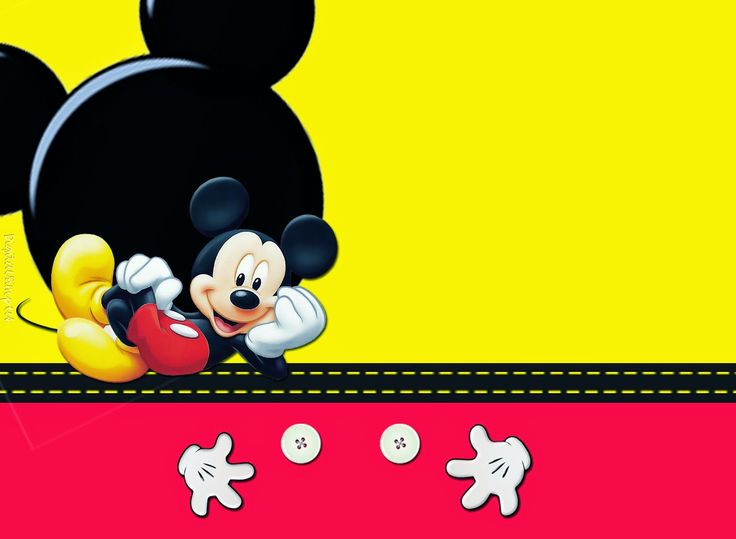Kit de Mickey en Rojo y Amarillo para Imprimir Gratis.