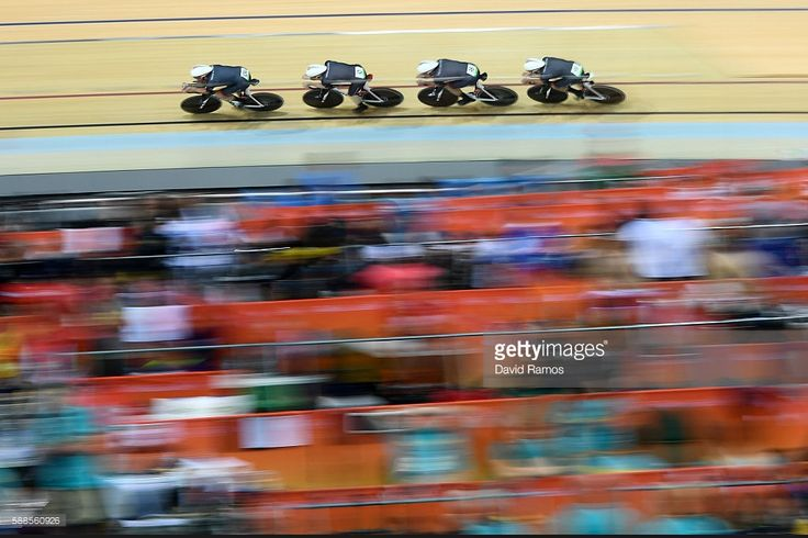 Ed Clancy, Steven Burke, Owain Doull and Sir Bradley Wiggins of Great Britain…
