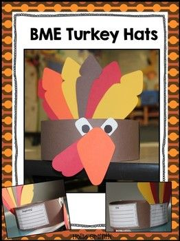 FREEBIE - BME Turkey Hat. Beginning, Middle, End Turkey Hat.