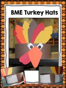 FREEBIE - BME Turkey Hat. Beginning, Middle, End Turkey Hat.