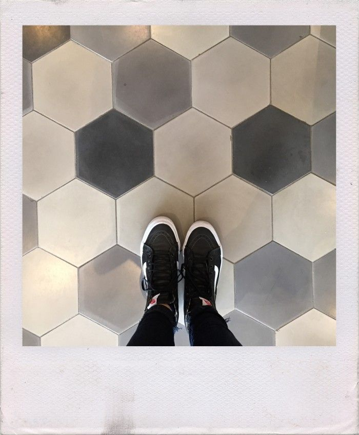 shades of gray hex cement tile