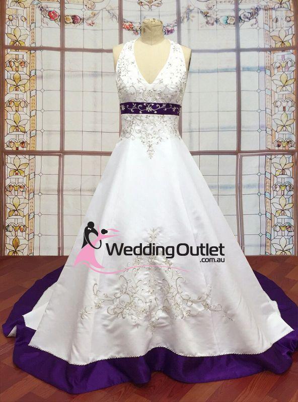 Purple and white wedding dress, purple wedding dress, purple wedding gowns