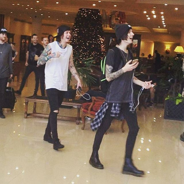 Me and @benjaminpaulbruce seem to be very excited. We either found a nice lobby bar or just laughing at @cassells face...