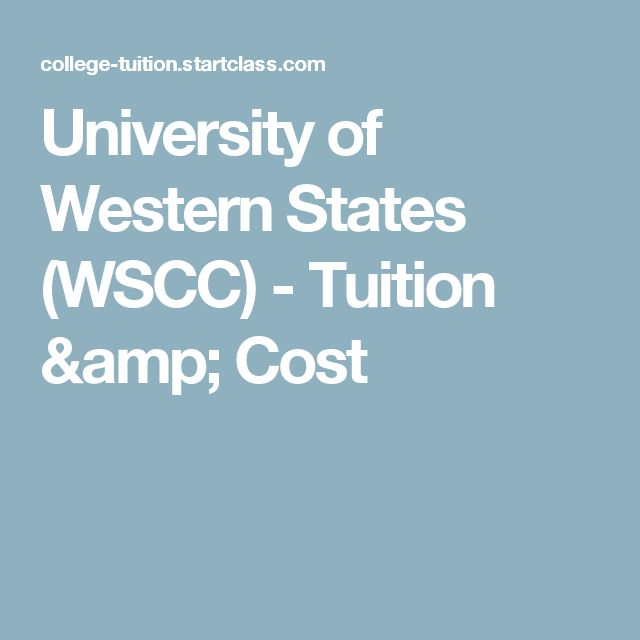 University of Western States (WSCC) - Tuition & Cost