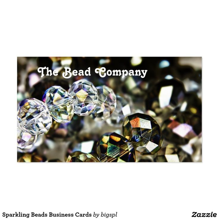 Sparkling Beads Business Cards