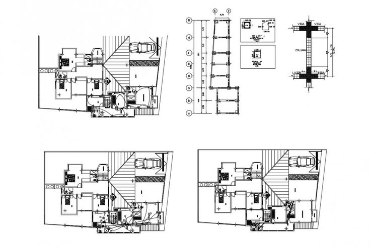 Electrical installation plan of house apartment 2d view