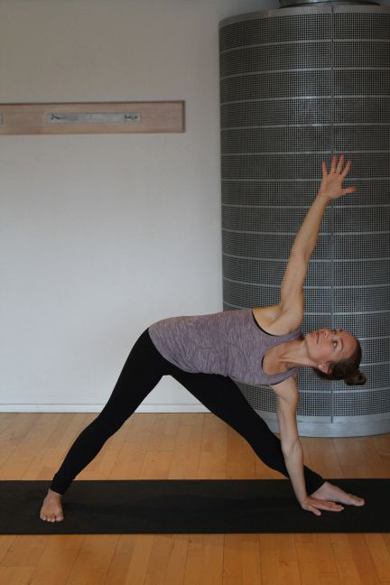 How to do trikonasana - or triangle pose.