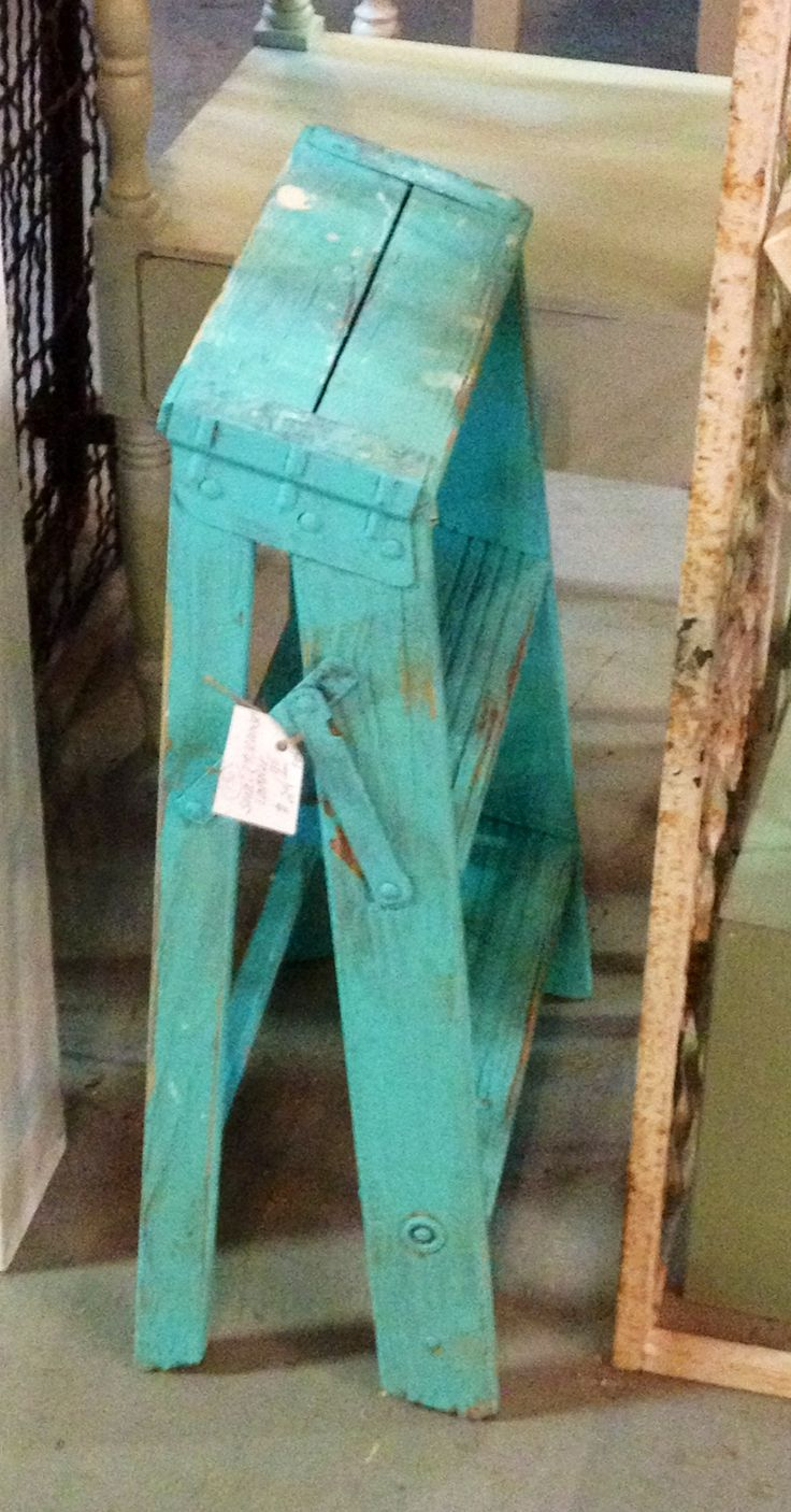 Even something so simple like a ladder becomes a work of art when painted turquoise...
