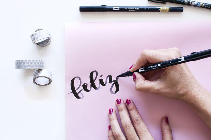 La Gata Con Botas - Tutorial papel regalo con lettering