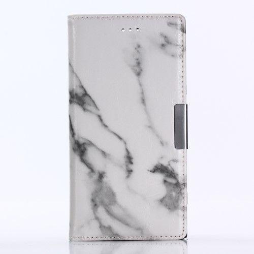 Housse Sony Xperia XZ1 Marbre - Blanc