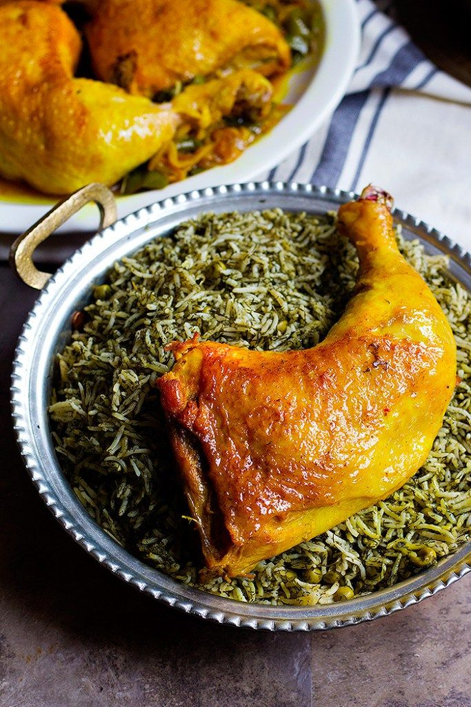 Serve Persian Chicken With Dill Rice For A Full Meal Food
