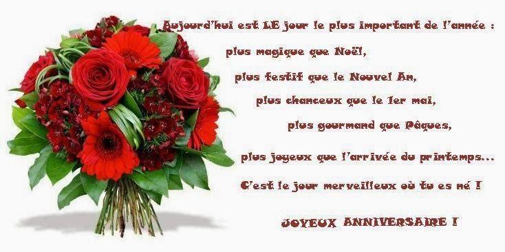 Carte Joyeux Anniversaire Avec Des Fleurs Carte Joyeux