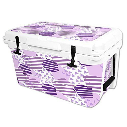 MightySkins Protective Vinyl Skin Decal Wrap for RTIC 45 qt Cooler cover sticker Purple Pentagon * Check out the image by visiting the link.(This is an Amazon affiliate link and I receive a commission for the sales)