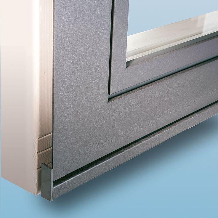 Holz-Alu Fenster Plano mit Steinbankanschluss