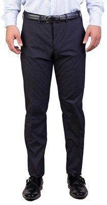 Prada Men's Cotton Blend Trouser Pants Pinstriped Navy Blue.