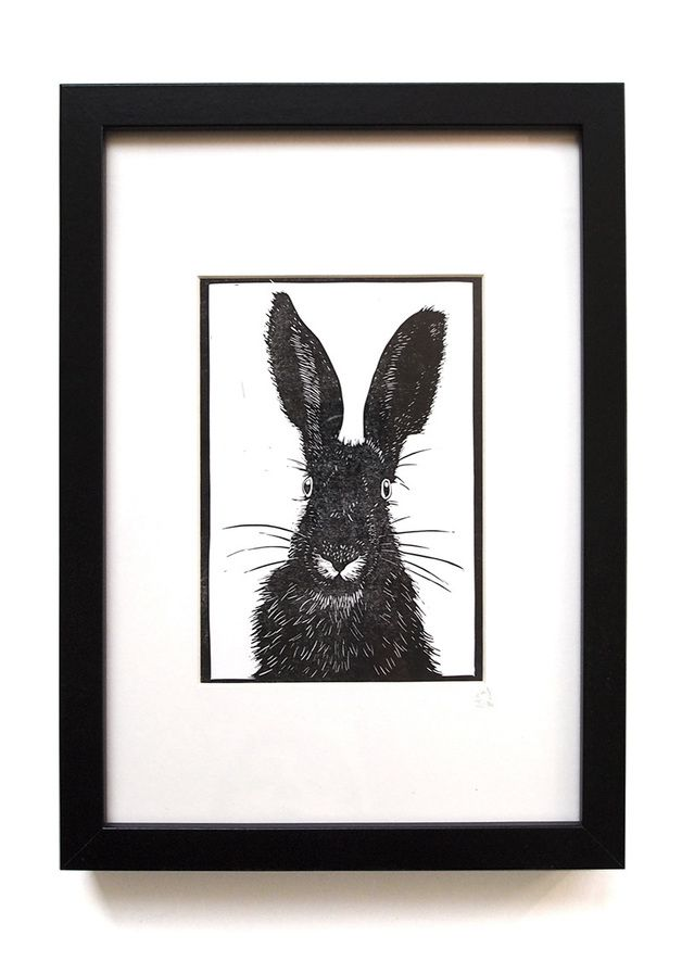 Poster mit Hase // poster with bunny by Ahoimeise via DaWanda.com