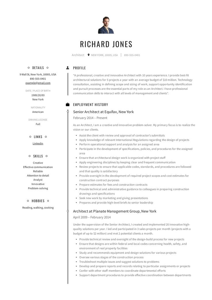 Architect Resume Amp Writing Guide In 2020 Resume Skills