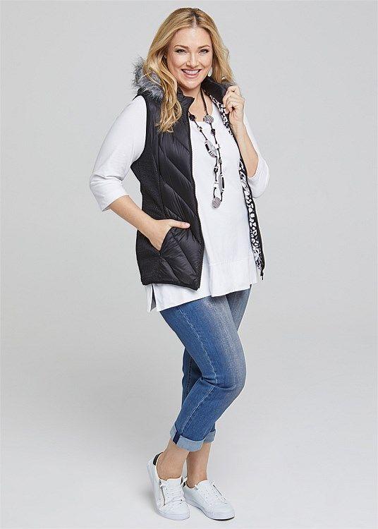 Puffer Vest #takingshape #plussize #curvy