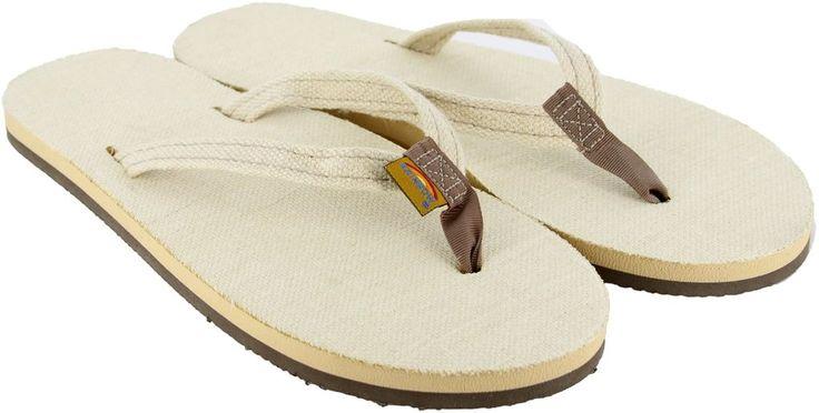 Rainbow Natural Hemp Sandals