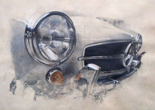 9 best car art images on pinterest old school cars vintage cars photorealistic drawings that capture the beauty of vintage cars what an art malvernweather Gallery