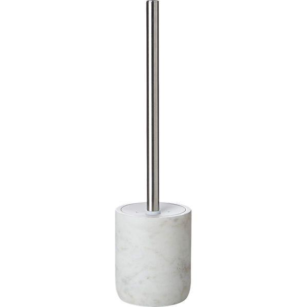 marble toilet brush    CB2