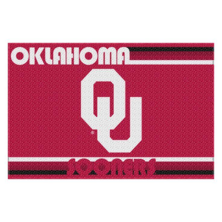 "Oklahoma College """"Old Glory"""" 39x59 Acrylic Tufted Rug"