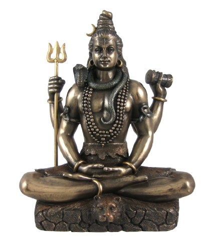 Shiva in Padmasana Lotus Pose Hindu Statue