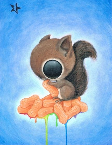 Sugar Fueled Squirrel Circus Peanuts Sweets by Sugarfueledart