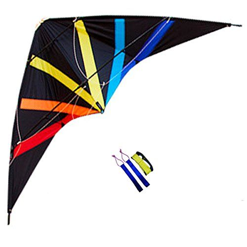 Besra 70inch Dual Line Stunt Kite with Flying Tools Power kites Outdoor Fun Sports for Beach  Park Black >>> Click image to review more details. Note: It's an affiliate link to Amazon
