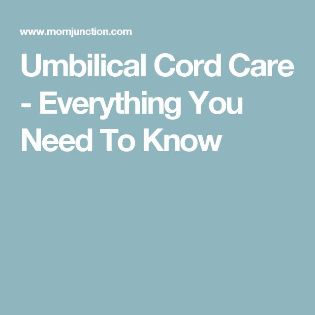 Umbilical Cord Care - Everything You Need To Know
